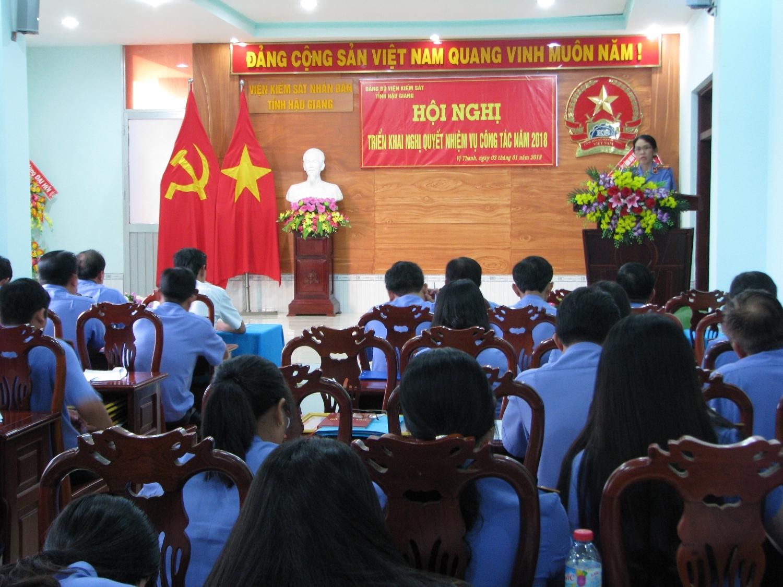 Đ/c Hồ Ánh Tuyết – Bí thủ Đảng ủy kết luận tại Hội nghị